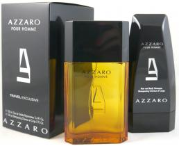 AZZARO POUR HOMME 2 PCS SET: 3.4 EDT SP + 5 OZ SHAMPOO (TRAVEL SET)