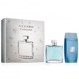 AZZARO CHROME 2 PCS SET: 3.4 EDT SP + 6.8 SHOWER GEL