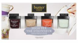BUTTER LONDON HIGH TEA COLLECTION BOX SET: 4 - 6ML NAIL LACQUERS
