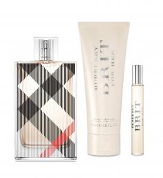 BURBERRY BRIT 3 PCS SET FOR WOMEN: 3.4 EDP SP
