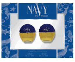 NAVY 2 PCS SET: 2 X 1 OZ COLOGNE SP