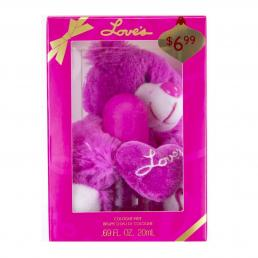 LOVE'S BABY SOFT 2 PCS SET: 0.69 OZ + TEDDY BEAR