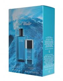 COOLWATER 2 PCS SET FOR MEN: 4.2 EDT SP + 2.4 DEOD STICK (TRAVEL SET)