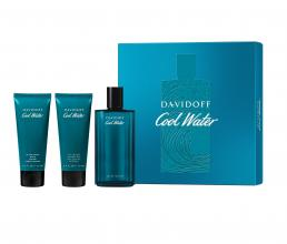 COOLWATER 3 PCS SET FOR MEN: 4.2 EAU DE TOILETTE SPRAY + 2.5 ALL-IN-ONE SHOWER GEL + 2.5 AFTER SHAVE BALM