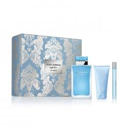 DOLCE & GABBANA LIGHT BLUE EAU INTENSE 3 PCS SET FOR WOMEN: 3.3 EAU DE PARFUM SPRAY + 1.6 BODY LOTION + 0.33 OZ EAU DE PARFUM SPRAY (HARD BOX)