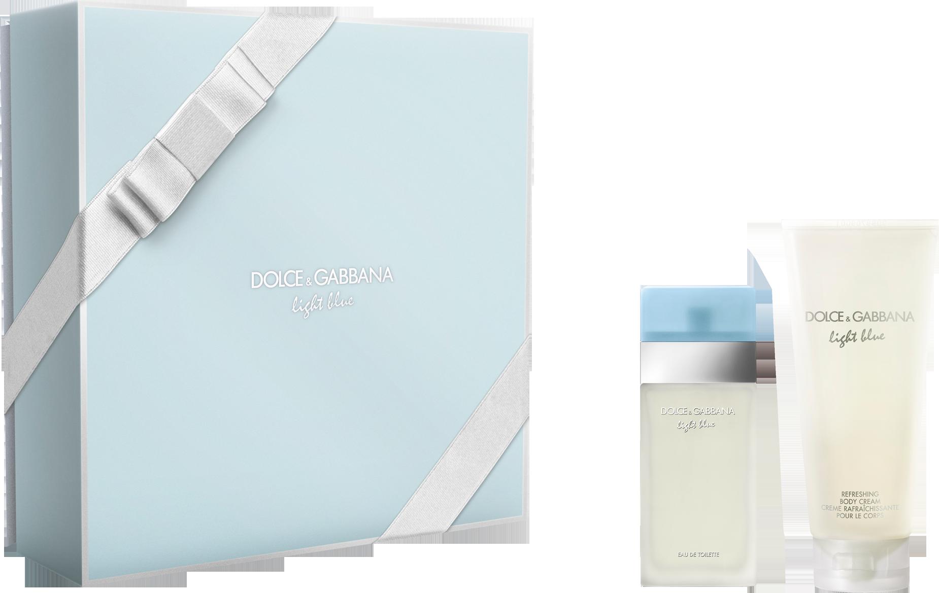 DOLCE & GABBANA LIGHT BLUE 2 PCS SET FOR WOMEN: 0.8 SP
