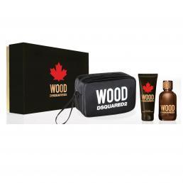 DSQUARED2 WOOD 2 PCS SET FOR MEN: 3.4 EAU DE TOILETTE SPRAY + 3.4 PERFUMED BATH & SHOWER GEL