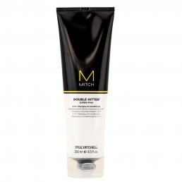 PAUL MITCHELL M MITCH DOUBLE HITTER 2-IN-1 SHAMPOO AND CONDITIONER 8.5 OZ