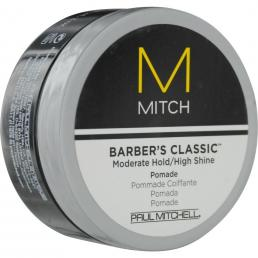 PAUL MITCHELL M MITCH BARBER'S CLASSIC MODERATE HOLD/HIGH SHINE POMADE 3 OZ