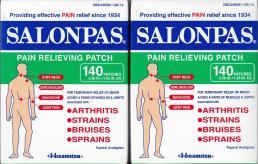 SALONPAS PAIN RELIEVING PATCH 140 PATCHES