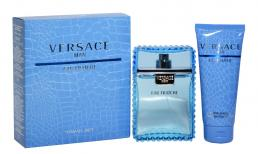 VERSACE EAU FRAICHE 2 PCS SET FOR MEN: 3.4 SP (TRAVEL SET)