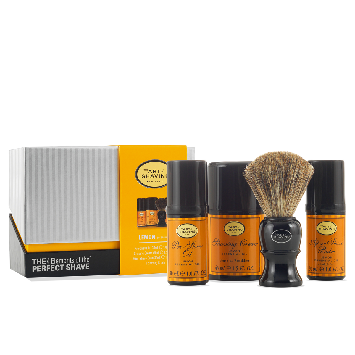 THE ART OF SHAVING LEMON MID SIZE THE 4 ELEMENTS OF THE PERFECT SHAVE