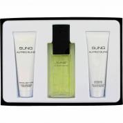 ALFRED SUNG 3 PCS SET FOR WOMEN: 3.4 EAU DE TOILETTE SPRAY + 2.5 BODY LOTION + 2.5 SHOWER GEL
