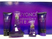 BEYONCE MIDNIGHT HEAT 4 PCS SET: 3.4 EDP SP + 15 ML EDP SP + 2.5 BODY LOTION + 2.5 SHOWER CREAM