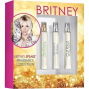 BRITNEY SPEARS 3 PCS MINI SET FOR WOMEN: FANTASY 0.5 OZ EAU DE PARFUM SPRAY + MIDNIGHT FANTASY 0.5 OZ EAU DE PARFUM SPRAY + CURIOUS 0.5 OZ EAU DE PARFUM SPRAY
