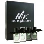 BURBERRY MR. BURBERRY 4 PCS MINI SET: 2 * 0.16 EAU DE TOILETTE + 2 * 0.16 EAU DE PARFUM (HARD BOX)