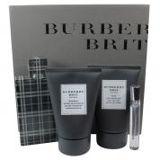 BURBERRY BRIT 4 PCS SET FOR MEN: 3.4 EDT SP + 3.4 SHOWER GEL + 3.4 AFTER SHAVE BALM + 7.5 ML EDT SP