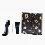 CAROLINA HERRERA GOOD GIRL 3 PCS SET: 2.7 EAU DE PARFUM SPRAY + 3.4 BODY CREAM + 0.24 OZ EAU DE PARFUM