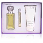 ETERNITY 3 PCS SET FOR WOMEN: 3.4 EDP SP + 10 ML EDP SP + 6.7 BODY LOTION