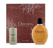 OBSESSION 2 PCS SET FOR MEN: 6.8 EDT SP + 2.6 DEOD STCK