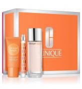 CLINIQUE HAPPY 3 PCS SET FOR WOMEN: 1.7 PERFUME SPRAY + 1 OZ GELATO HAND CREAM + 0.34 OZ PERFUME SPRAY (HARD BOX)