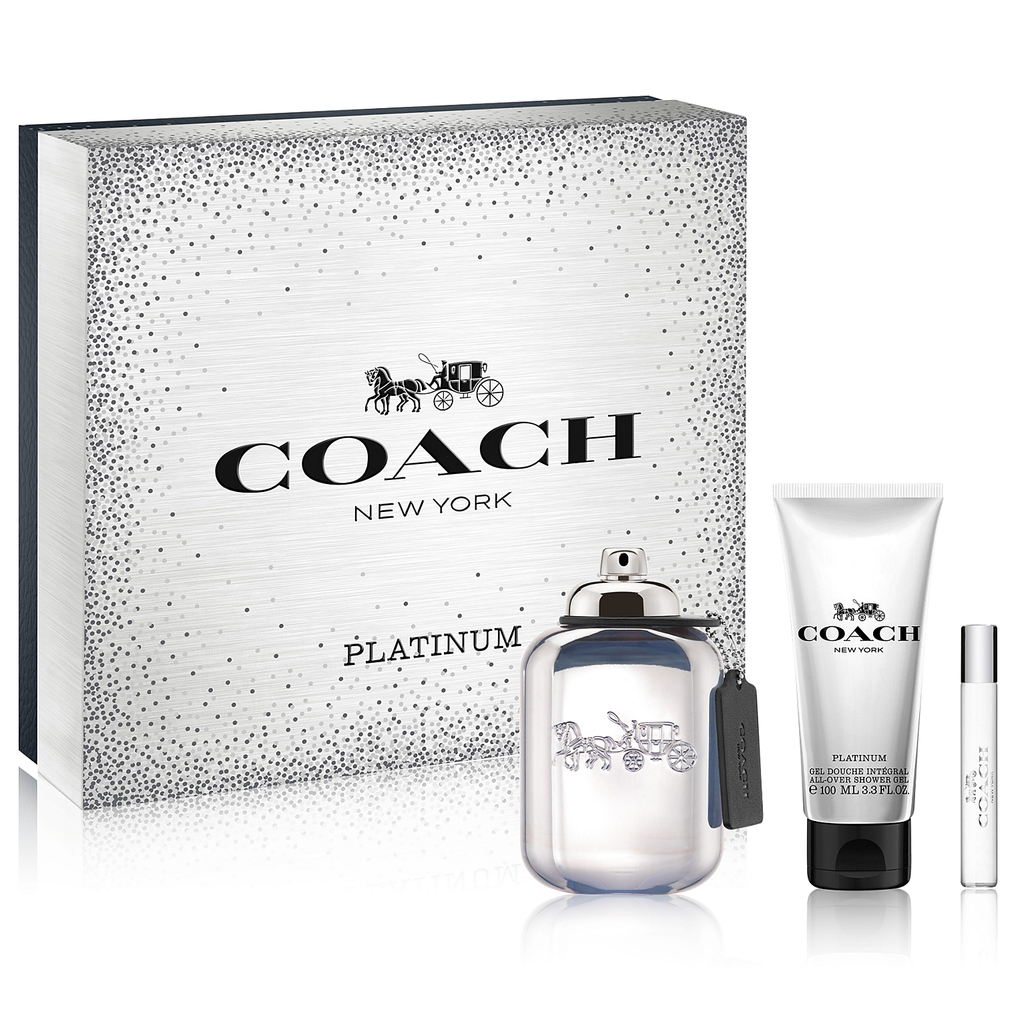COACH PLATINUM 3 PCS SET FOR MEN: 3.4 SP