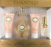 CHANTILLY 4 PC SET FOR WOMEN: 3 OZ SP
