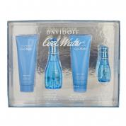COOLWATER 4 PCS SET FOR WOMEN: 1.7 EAU DE TOILETTE SPRAY + 2.5 BODY LOTION + 2.5 SHOWER GEL + 15 ML EAU DE TOILETTE SPRAY (WINDOW BOX)