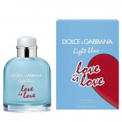 DOLCE & GABBANA LIGHT BLUE LOVE IS LOVE 2.5 EAU DE TOILETTE SPRAY FOR MEN