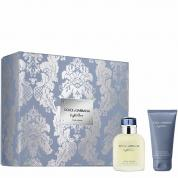 DOLCE & GABBANA LIGHT BLUE 2 PCS SET FOR MEN: 2.5 EAU DE TOILETTE SPRAY + 1.7 AFTER SHAVE BALM