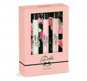 DOLCE BY DOLCE & GABBANA 3 PCS MINI SET FOR WOMEN: DOLCE 0.33 OZ EAU DE PARFUM + DOLCE GARDEN 0.33 OZ EAU DE PARFUM + ROSA EXCELSA 0.33 OZ EAU DE PARFUM