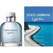 DOLCE & GABBANA LIGHT BLUE SWIMMING IN LIPARI 4.2 EAU DE TOILETTE SPRAY FOR MEN