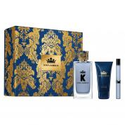 DOLCE & GABBANA 'K' 3 PCS SET FOR MEN: 3.3 EAU DE TOILETTE SPRAY + 10 ML EAU DE TOILETTE SPRAY + 1.7 SHOWER GEL (HARD BOX)