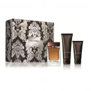 DOLCE & GABBANA THE ONE 3 PCS SET FOR MEN: 3.4 EAU DE TOILETTE SPRAY + 2.5 AFTER SHAVE BALM + 1.6 SHOWER GEL