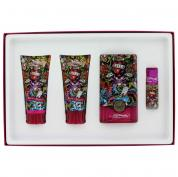 ED HARDY HEARTS & DAGGERS 4 PCS SET FOR WOMEN: 3.4 SP
