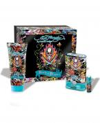 ED HARDY HEARTS & DAGGERS 3 PCS SET FOR MEN: 1.7 EDT SP + 1/4 OZ EDT SP + 3 OZ S/G