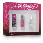 ED HARDY 3 PCS MINI SET FOR WOMEN (WINDOW BOX)