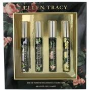 ELLEN TRACY 4 PCS ROLLERBALL SET FOR WOMEN: RADIANT 0.33 OZ + CONFIDENT 0.33 OZ + COURAGEOUS 0.33 OZ + INSPIRING 0.33 OZ
