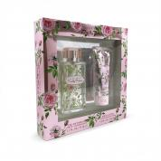 ELLEN TRACY PRETTY PETALS FEELING BLISSFUL 2 PCS SET FOR WOMEN: 2.5 EAU DE PARFUM SPRAY + 3.4 BODY LOTION