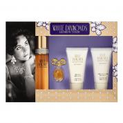 WHITE DIAMONDS 4 PCS SET: 1.7 EAU DE TOILETTE SPRAY + 3.7 ML PARFUM + 1.7 BODY LOTION + 1.7 BODY WASH