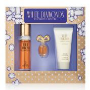 WHITE DIAMONDS 3 PCS SET: 1 OZ EAU DE TOILETTE SPRAY + 3.7 ML PARFUM + 1.7 BODY LOTION