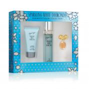 SPARKLING WHITE DIAMONDS 3 PCS SET: 1.7 EAU DE TOILETTE SPRAY + 1.7 BODY LOTION + 0.12 OZ PARFUM (WINDOW BOX)