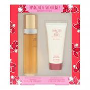 DIAMONDS & RUBIES 2 PCS SET: 3.4 EAU DE TOILETTE SPRAY + 3.3 BODY LOTION (WINDOW BOX)