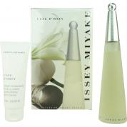 ISSEY MIYAKE 2 PCS SET FOR WOMEN: 3.4 EDT SP + 2.5 BODY CREAM