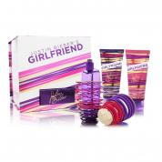 JUSTIN BIEBER GIRLFRIEND 3 PCS SET: 1.7 EAU DE PARFUM SPRAY + 3.4 TOUCHABLE BODY LOTION + 3.4 BE WITH ME BODY WASH (HARD BOX)