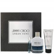 JIMMY CHOO URBAN HERO 3 PCS SET FOR MEN: 3.4 EAU DE PARFUM SPRAY+3.4 AFTER SHAVE BALM+0.25 EAU DE PARFUM SPRAY