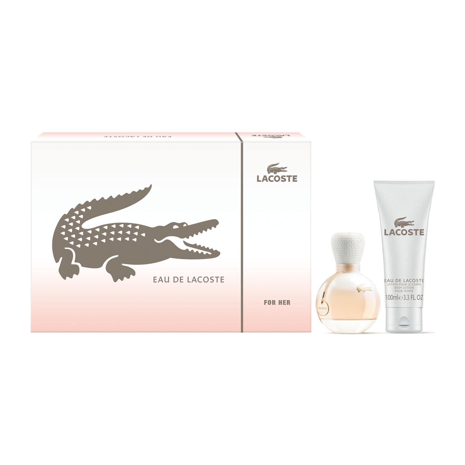 LACOSTE EAU DE LACOSTE 2 PCS SET: 3 OZ EDT SP + 3.4 BODY LOTION