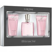MIRACLE LANCOME 3 PCS SET: 1 OZ EDP SP