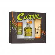 CURVE 3 PCS SET FOR MEN: 2.5 EDC SP + 1OZ DEOD STCK + 3.4 AFTERSHAVE BALM