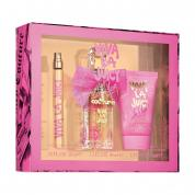 VIVA LA JUICY LA FLEUR 3 PCS SET: 1.3 EDT SP + 0.33 OZ EDT SP + 1.7 BODY SOUFFLE